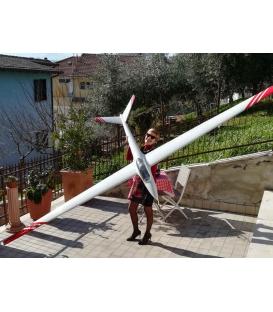 H101 Salto D-Box Carbon Bianco Bande Rosse Larghe