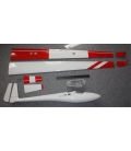 Libelle 4,20 D-Box Carbon Winglets Bianco Bande rosse