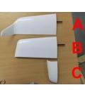 """Valenta Coppia Winglets di ricambio tipo """"C"""" x Asw20"""